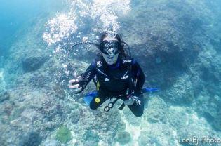 Chantal Divemaster trainee at Legend Diving Lembongan