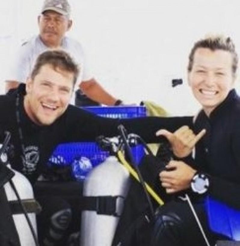 Kent-Brittany Divemaster trainees at Legend Diving Lembongan