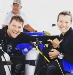 Kent-Brittany Divemaster trainees at Legend Diving Lembongan