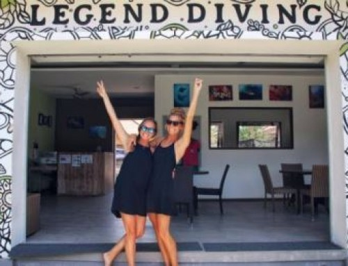 Portrait of the day: Catherine & Caroline Divemaster trainees at Legend Diving Lembongan