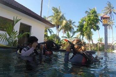 Pool session Legend diving lembongan bali
