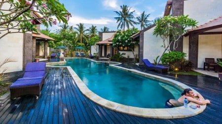 Accommodation with Legend Diving at nusa lembongan