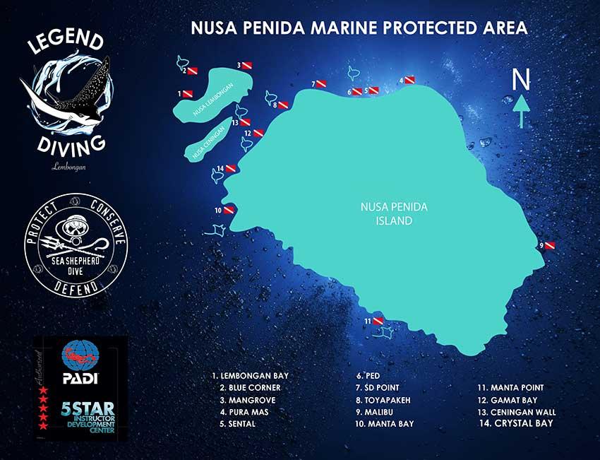 Nusa Penida diving sites