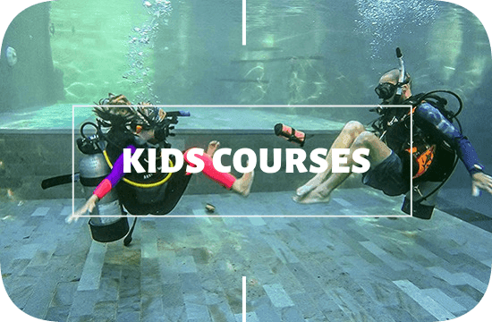 PADI kid courses at legend diving lembongan