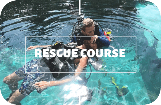 Rescue diver course at legend diving lembongan